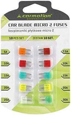 10pack autozekeringen MICRO 2 stekkeraansluitingen 9 mm 5A tot 30A