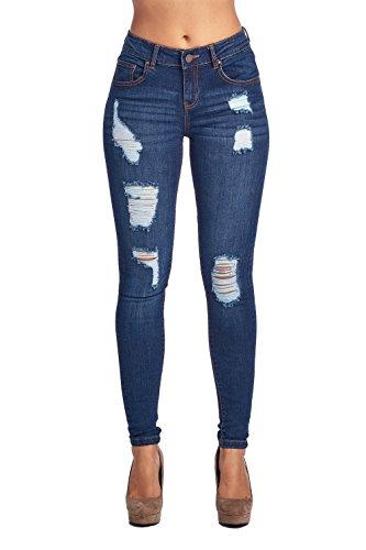 (Blue Age Womens Well Stretch Distressed Denim Skinny Jeans (9),)