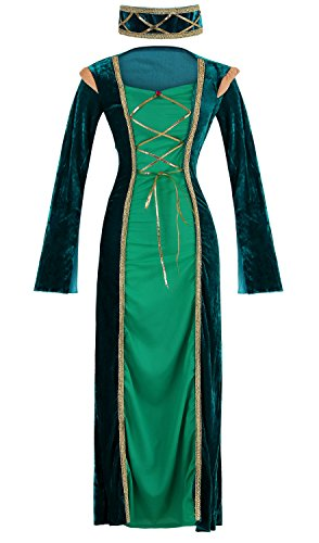 Ecilu Women's Adult Lady in Waiting Costume as-shown one-size