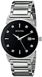Bulova Men's 96D121 Analog Display Japanese Quartz Silver Watch