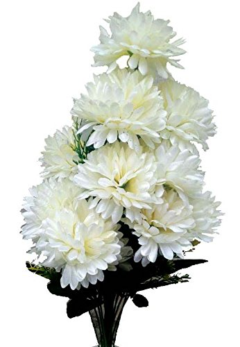 Buy Sofix Artificial White Marigold Flower Bunch For Vase 22