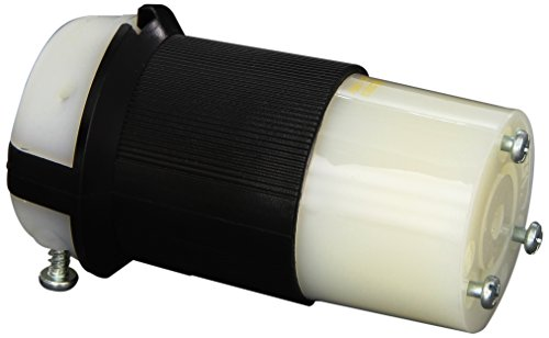 Hubbell HBL2313 Locking Connector, 20 amp, 125V, L5-20R, Black and - L5 Hubbell 20