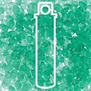 SuperDuo Czech Two-Hole Seed Bead 2.5X5MM (Emerald Matte) Approx 24gm Tube (Superduo Beads Emerald)