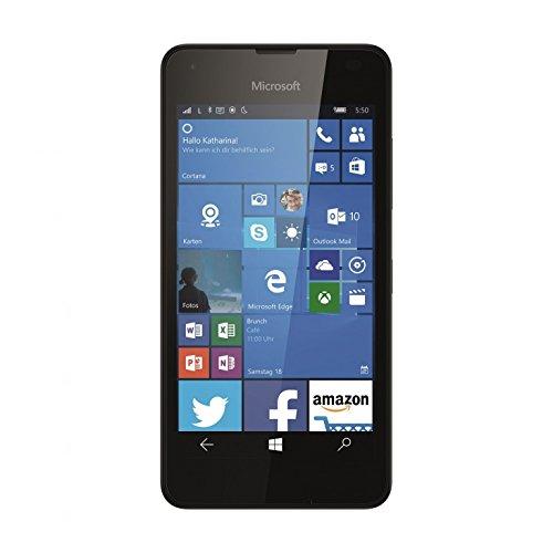 bolsa del cinturón / funda para Microsoft Lumia 550, negro | caja del teléfono cubierta protectora bolso - K-S-Trade (TM)