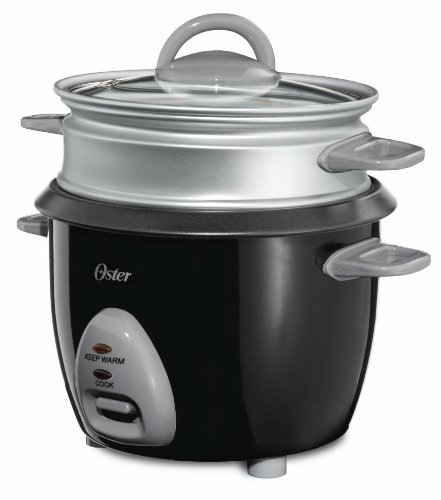 Oster CKSTRCMS65 3-Cup Rice Cooker with Steam Tray