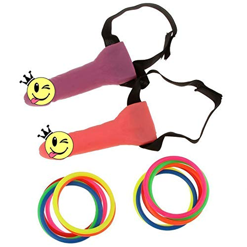 bluegarlic Bachelorette Party Games Favor Ring Toss Hoopla Game Set , Girls night out(2pcs)