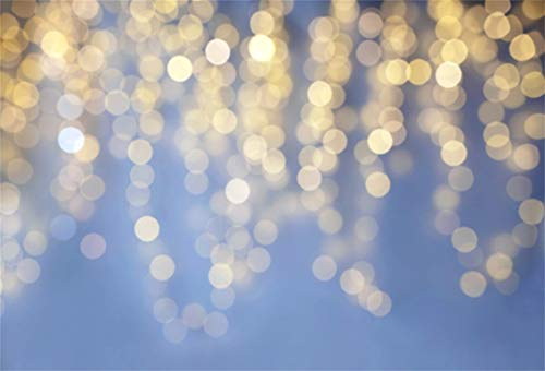 LFEEY 10x7ft Glitter Bokeh Halos Backdrop Blur Twinkle Neon Sparkle Spots Photography Background Holiday Party Decoration Vinyl Banner Fashion Blog Web Online Celebrity Live Drops Video Studio Props