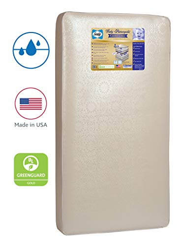 "Sealy Baby Posturepedic Crown Jewel Waterproof Standard Toddler & Baby Crib Mattress - 220 PostureTech Sensory Coils, 51.7"" x 27.3"""