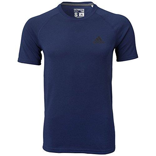 adidas Performance Men's Ultimate Short Sleeve Tee, X-Large, Collegiate Navy/Dark Grey Heather