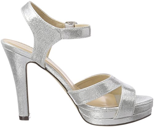 Sandali Da Donna Con Fibbie Brusago Argento (argento)