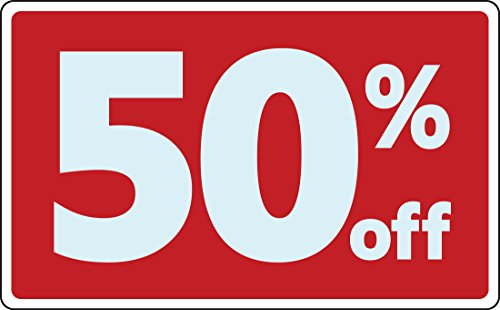 Sale 50% Percent off Discount Promotion Message Retail Store Business Sign
