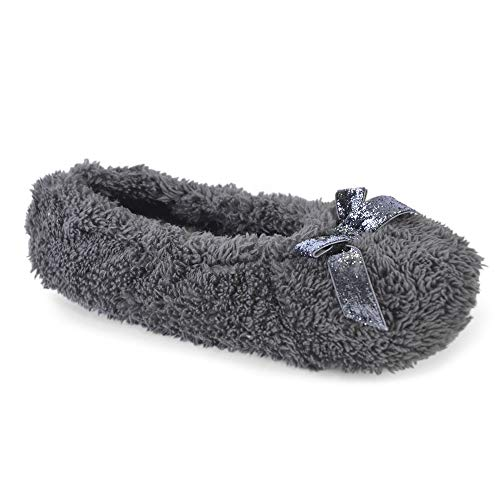 It Up Glitter Fille Style Charcoal Femme Chaussons Bow dwOfzT