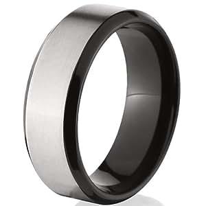 8mm Black Titanium Ring, Men's Rings, Titanium Rings For ...