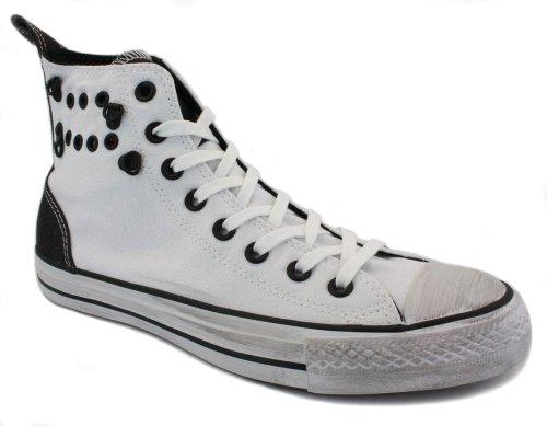 Converse Eyelet Hi 129971C Unisex Canvas Laced Trainers White - 8 w6UoIcv