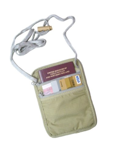 Travel Neck Pouch – Sand, Bags Central
