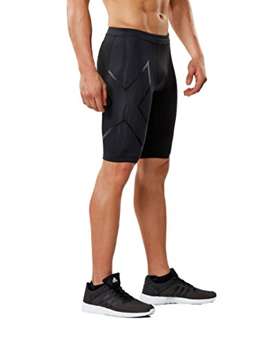 2XU Men's MCS Run Compression Shorts (Black/Nero, XX Large) by 2XU (Image #4)