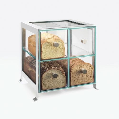 Calmil 1586-74 Soho Bread Case, 13'' Length x 14'' Width x 14.25'' Height, Silver by Cal Mil