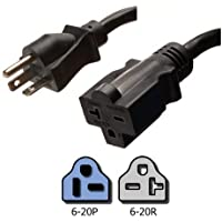 NEMA 6-20 Extension Power Cord - 25 Foot, 20A/250V, 12/3 SJT - Iron Box # IBX-6153-25