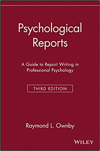 amazon psychological reports a guide to report writing in