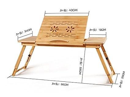 Actualizar tamaño grande Mesa de Cama Para Portátil Madera de Bambú Con Patas - Bandeja de Desayuno ...