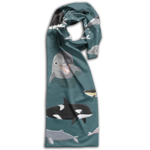 Cute Narwhal Unicorn Wallpaper Winter Scarves Lightweight Warm Towel Stylish Shawl Scarf - Size Guide Burberry