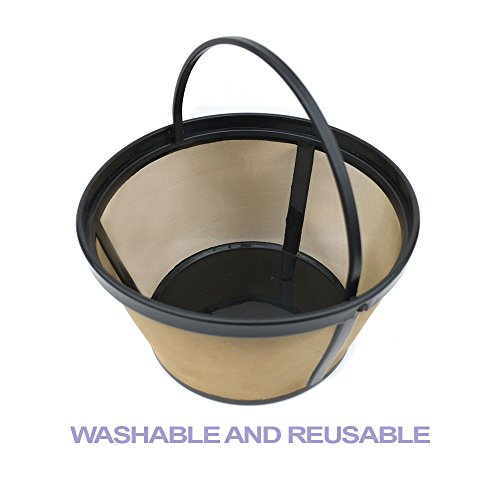 Coffee Filter of Bestwoo New Reuseable Permanent Basket-Style designed for Mr. Coffee 8-12 Cup Basket-Style Coffee makers