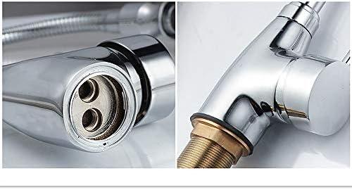 キッチン水栓 クロームメッキ冷たいお湯ミキサーシングルハンドルコントロールクロームカラーキッチンシンク水栓ハイアーク銅キッチン蛇口 キッチンとバスルームに適しています