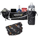 Soren Go Running Belt- 3 Pocket Waist Pack-...