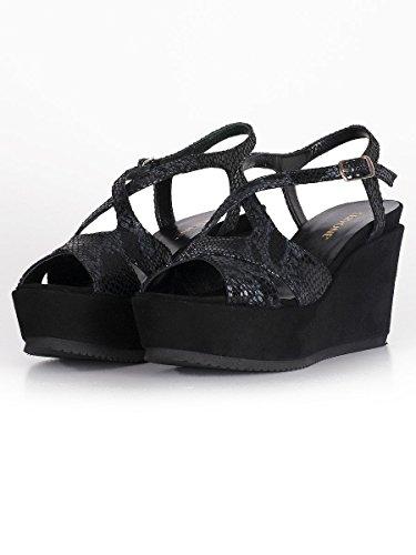 Cervone - Sandalias de vestir para mujer negro negro 36 negro