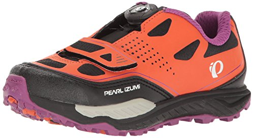 Pearl Izumi Women's W X-ALP Launch II Cycling Shoe, Clementine/Purple Wine, 42 EU/10 B US