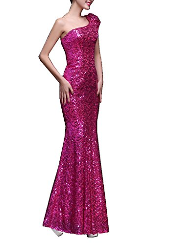Ball Red Lang Mermaid Damen Mei One Shoulder emmani Kleider RqfwxAw
