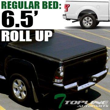 F-150 Super Crew 6.5' Bed (Topline Autopart Lock Roll Up Soft Vinyl Truck Bed Tonneau Cover For 15-18 Ford F150 Regular ( Standard ) / Super ( Extended ) / Super Crew ( Crew ) Cab 6.5 Feet ( 78