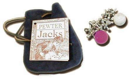 Old Fashioned Toys - Pewter Jacks, Jack Toys, (Jack Stone Game)