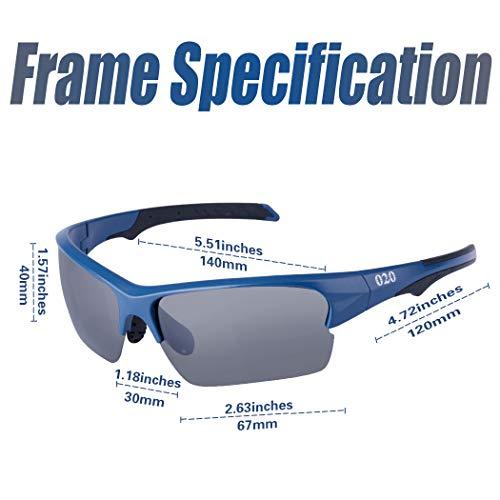 67492cdaa77 O2O Polarized Sports Sunglasses for Men Women Teens Running Driving  Baseball Softball Cycling