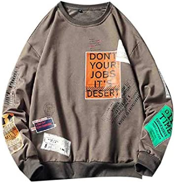 Romancly Mens Fleece Pullover Warm Big & Tall Fall Winter Tunic Sweatshirts