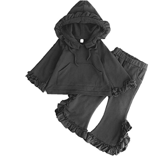 Søstrene Style Girls Boutique Ruffle Trim Hoodie &