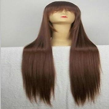 OOFAY JF® populares peluca cosplay peluca del partido peluca marrón de la historieta súper largas