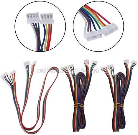0.5M// 1M//2M XH2.54 4pin-XH2.0 6pin Paralled Motor Connector Cables for 42 Stepper Motor 3D Printer Parts JohnnyBui