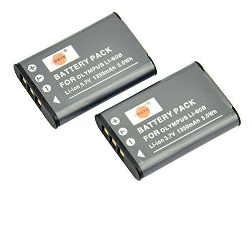 DSTE Replacement for 2X LI-60B Replacement Li-ion Battery Compatible Olympus FE-370 Compatible Pentax M50 W60 W80 V20 Compatible Nikon Coolpix S550 S560 Ricoh R50 as EN-EL11 DB-80 D-LI78
