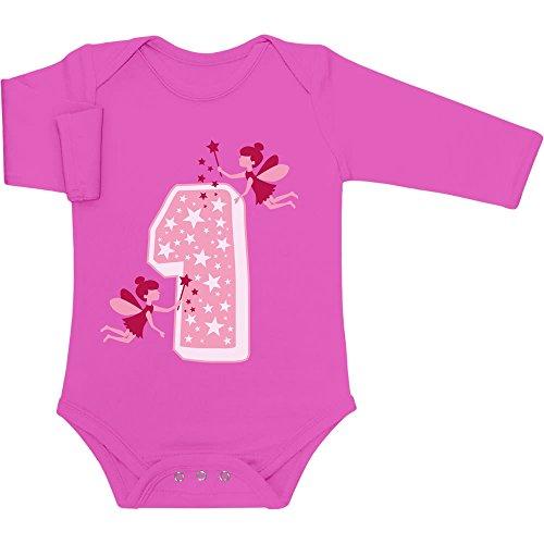 Compleanno Lunga Neonato Wow Idea Festa Regalo Del Bambina Per Rosa Body Shirtgeil Primo Manica fRw0Pq