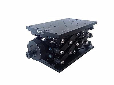 PT-SD409 Z-axis Manual Lab Jack Precise Manual Lift Elevator Travel Range 120mm