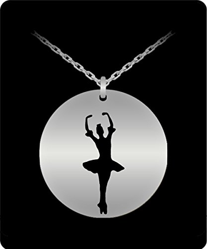 Ballet Slipper Necklace - 18k Gold Plated/Stainless Steel Laser Engraved Chain Pendant - Balerina - For Girls - Cute Charm (Balerina Costumes)