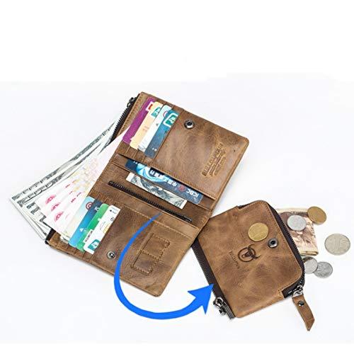Porte En Homme color monnaie Cuir Pour Brown Brown Rétro Avec Sixminyo dgSIFqnWd