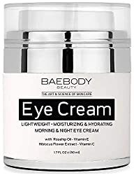 Baebody Eye Cream is a moisturizing cream formulated to nourish, soothe, firm and revitalize the appearance of dark circles, puffiness, bags under and around the eye, fine lines and wrinkles in the eye area.