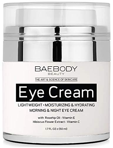 Baebody Eye Cream Rosehip Hibiscus for Appearance of Fine Lines, Wrinkles, Dark Circles, and Bags - for Under and Around Eyes - 1.7 fl oz (Best Cream For Wrinkles Around Eyes)