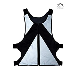 High-Visibility Reflective Vest with Zipper Pockets and Adjustable Straps for Running, Cycling, Motorcycle, Bike Commute Safety Gear for Men and Women, Designed for Nighttime Sports and Activities