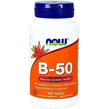 NOW Vitamin B-50 mg,100 Tablets