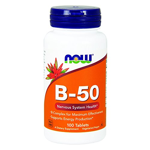 Tablets 50 Vitamin B Complex (NOW Vitamin B-50 mg,100 Tablets)