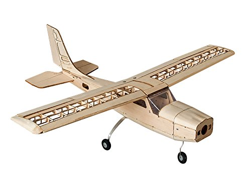 Radio Controlled Rc Model Airplane (DW Hobby RC Airplane 4CH Radio Remote Controlled Electronic& Gas Powered Airplane Laser Cut Balsa Wood Training Aircraft Wingspan 960mm Cessna Building Kit+ Power System +Covering)