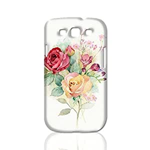 Hand-painted roses design 3D Rough Case Skin, fashion design image custom, durable hard 3D , Case New Design For Case Samsung Galaxy S5 Cover , By Codystore